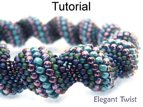 peyote beading tutorial beading tutorial pattern bracelet necklace tubular