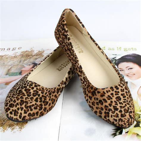womens leopard print flat shoes comfy leopard print flat shoes suede