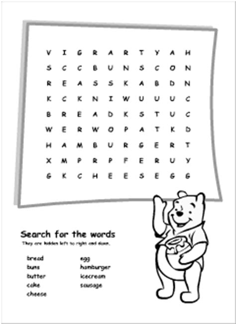 printable word search thailand food vocabulary for kids learning english printable