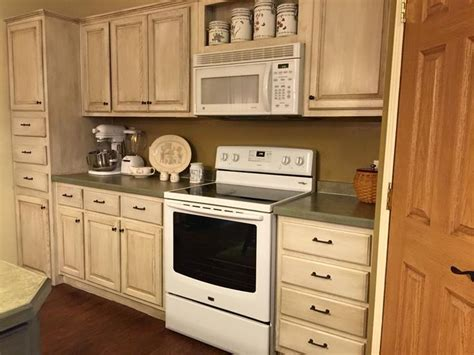 actual kitchen cabinet transformation with rustoleum