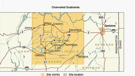 the channeled scablands of eastern washington the geologic story of the spokane flood classic reprint books image gallery scablands map