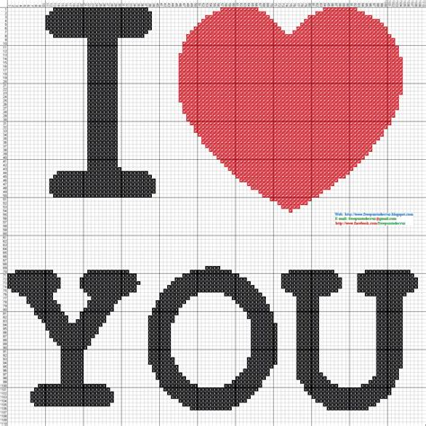 imagenes de i love you animadas dibujos punto de cruz gratis i love you punto de cruz