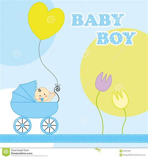 birthday card from baby template baby boy birthday card stock vector illustration of