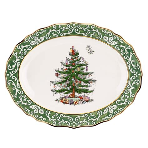spode christmas tree gold embossed large platter 59 99