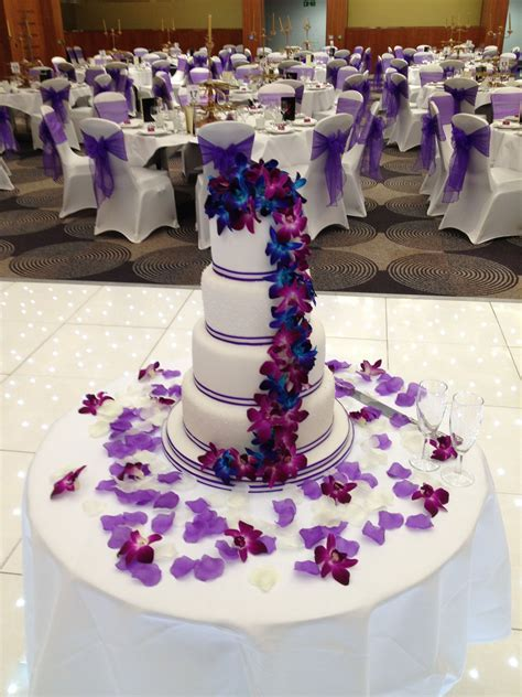 royal blue and purple wedding cake   CAKES Purple Wedding