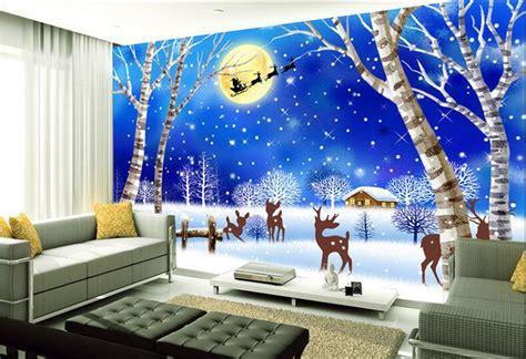 Christmas Murals For Walls aliexpress com buy 3d wallpaper custom mural non woven
