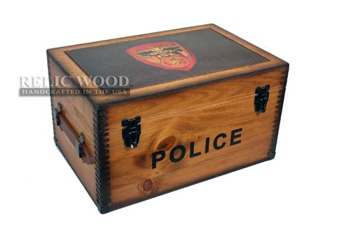 Gifts For Officers by Custom Department Badge Keepsake Box