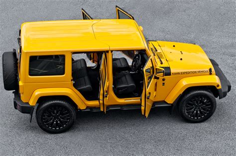 acid yellow jeep jeep wrangler cj300 by kahn unveiled autoevolution