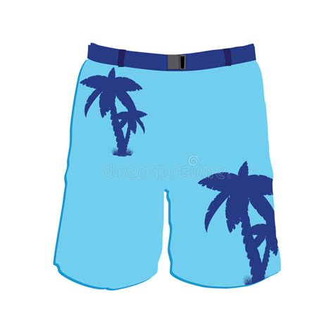 Man Shorts Stock Vector Image Of Cotton Denim Pocket 58467966 Board Shorts Template