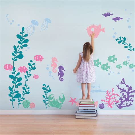 Under The Sea Wall Decals Sea Aquarium Playrooms And The Sea Wall Decals Nursery