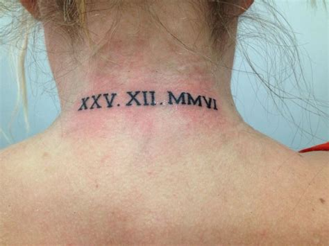roman numeral tattoo neck 49 marvelous roman numeral neck tattoos