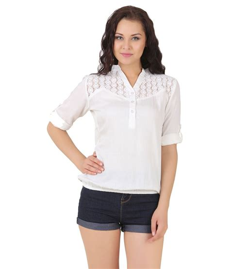 Lili Top Blouse buy lili blank white cotton tops at best prices in india snapdeal