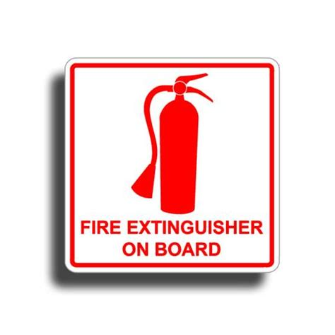 pa fish and boat fire extinguisher boat decals sticky customs