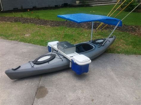 fishing boat accessory ideas kayak modification fishing machine boat mod fishing