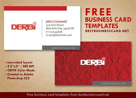 30 elegantly designed free business card templates