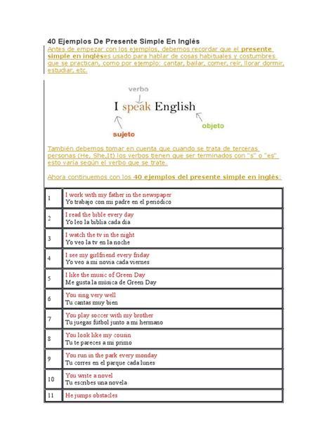 preguntas y respuestas largas en ingles presente simple 40 ejemplos de presente simple en ingl 233 s grammatical