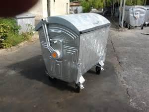 Galvanized metal container with metal screw cap ecofriends romania