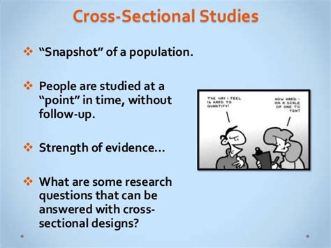 cross sectional studies comparing research designs fw 2013 handout version