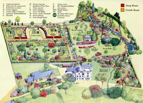 Garden Of On Map Map Of Bolfracks Gardens In Scotland