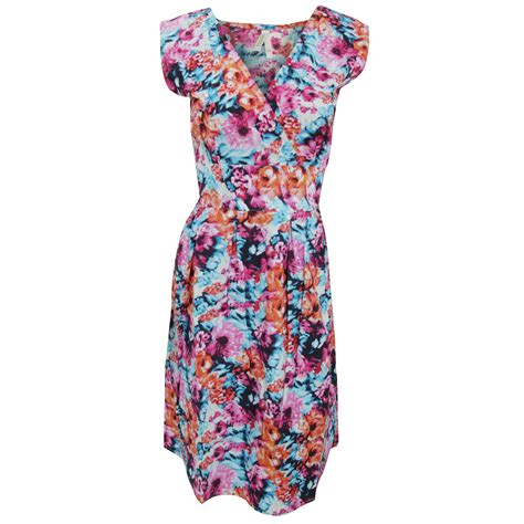 Floral Print Sleeveless Dress womens floral print sleeveless cotton summer dress