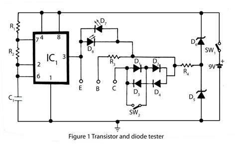 diode mosfet transistor and diode tester electronics project