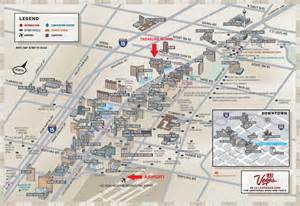 Las Vegas Map Strip by Safe Campus First Timers