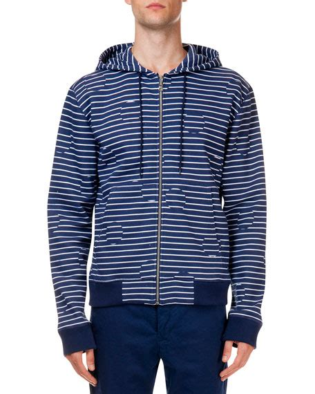 dot pattern jacket kenzo striped broken dot pattern zip jacket navy white