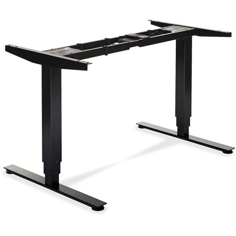sit stand desk electric lorell electric height adj sit stand desk frame
