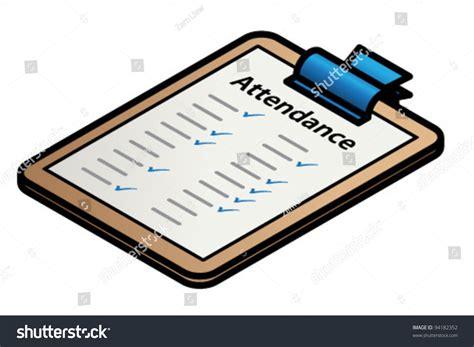 clipboard form attendance stock vector 94182352 shutterstock