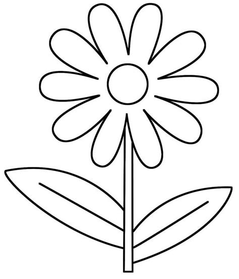 Coloring Page Daisy Flower | daisy flower d is for daisy flower coloring page