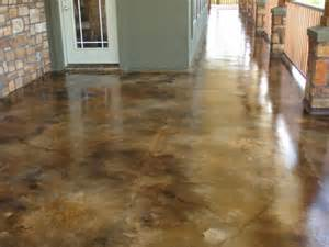 acid stain concrete floor house remodeling ideas