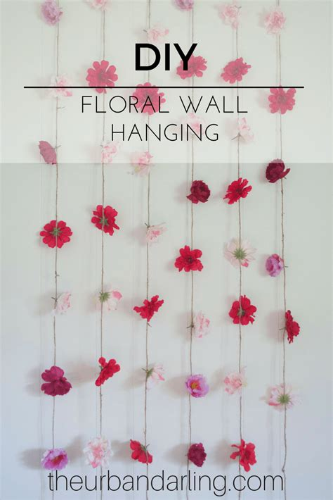Diy Hanging Ls For Bedroom by Flower Wall Hanging Diy Floral Wall Diy