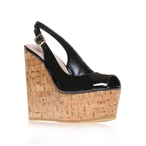 carvela kurt geiger kabbalah wedge shoes in black lyst