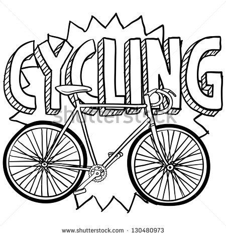 doodle bmx doodle style cycling sports illustration includes text