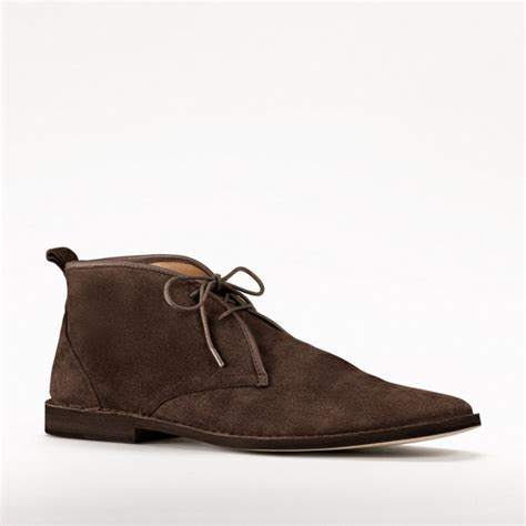 coach boots mens coach caleb desert boot in brown for chestnut lyst
