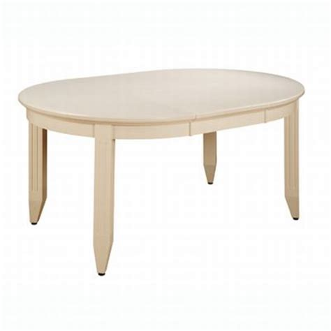 white oval with butterfly leaf table