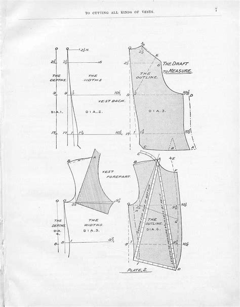 edwardian pattern drafting victorian tailoring waistcoat 1 drafting a pattern