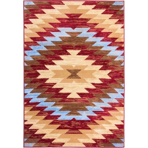 Area Rugs Miami Well Woven Miami Alamo Southwestern Traditional 5 Ft X 7 Ft Area Rug 84805 The Home Depot