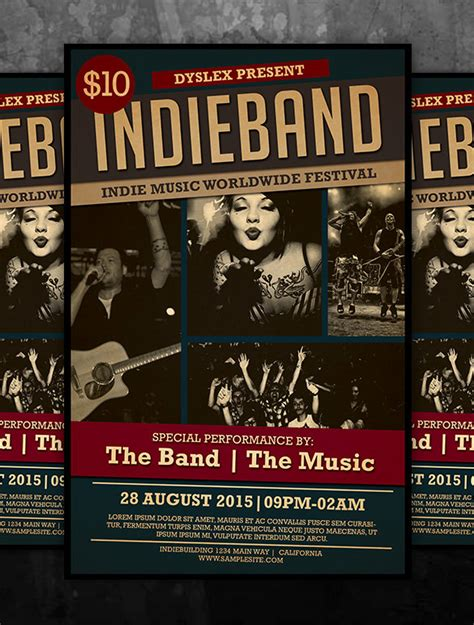 26 Psd Band Flyer Templates Designs Free Premium Templates Band Flyer Template