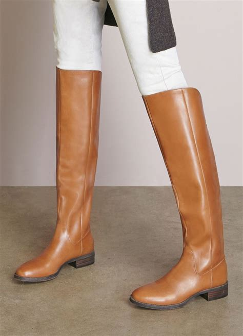 sole society boots cognac the knee leather boots sole society