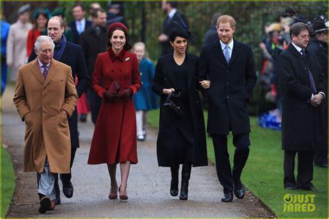prince william and harry feud meghan markle prince harry walk to christmas service