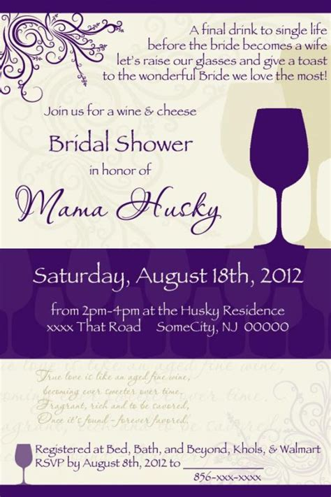 wine themed bridal shower sayings shower invite need opinions critique weddingbee