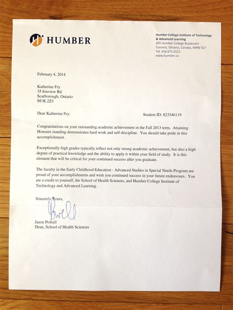 Humber College Resume Sle Resume Professional Portfolio