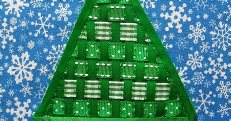 weaving ribbion through christmas tree crafter without a cat woven ribbon tree