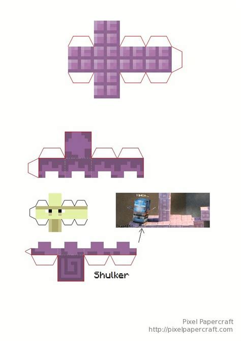 Mini Paper Craft - papercraft mini end ship minecraft d