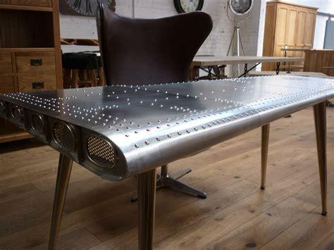 Steampunk Chair Deluxe Furniture Aviator Aluminium Wing Writing Desks