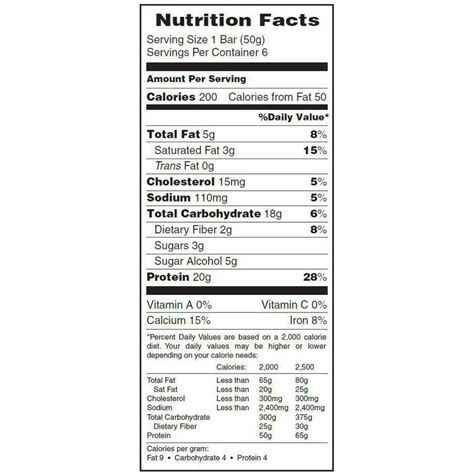 d protein nutrition facts protein bar nutrition facts nutrition ftempo