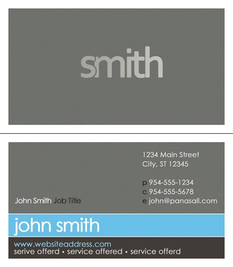 Business Card Template With Photo business card templates order business cards panasall