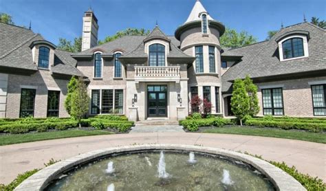 Floor Plans With Porte Cochere by 2 975 Million Brick Mansion In Bloomfield Hills Mi