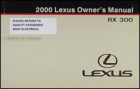 all car manuals free 1999 lexus rx lane departure warning 2000 lexus rx 300 wiring diagram manual original